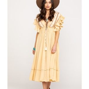 Free People Bali Will Wait For You Ruffle Dress XS